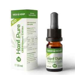 Medihemp - Bio Chanvre Pure Huile 10% - 10ml