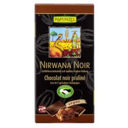 Rapunzel Nirwana Noir 55% with dark praline filling - 100g