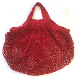 ah table - organic cotton bag red