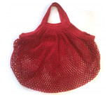 ah table - organic cotton bag red