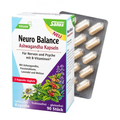 Salus - Neuro Balance Ashwagandha Kapseln - 90 Stück