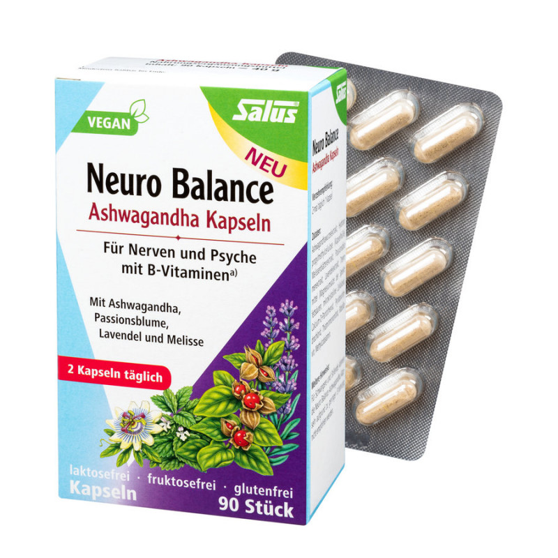Salus - Neuro-Balance Ashwagandha Capsules - 90 Piece
