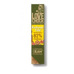 Lovechock - Chocolat noir avec du Curcuma & Tulsi - 40g