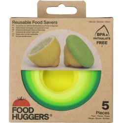 Food Huggers - Silikonkappen Grün - 5er Set