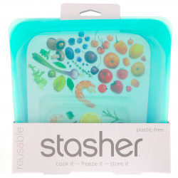 Stasher Bag - sandwich size aqua - 1 piece