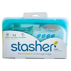 Stasher Bag - snack size aqua - 1 piece