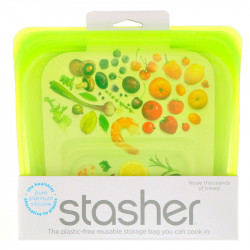 Stasher Bag - sandwich size lime - 1 piece