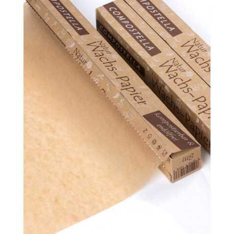Compostella natural wax-paper - 8m roll