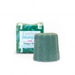 Lamazuna - Festes Shampoo Wilde Kräuter - für fettiges Haar - 55g