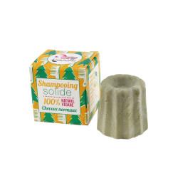 Lamazuna - Fête de Shampoing à la Vanille-noix de Coco - Cheveux secs - 55g