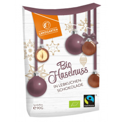 Landgarten - Bio Avellanas en pan de Jengibre con Chocolate - 90g