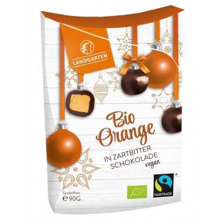Landgarten - Bio Orange in Zartbitterschokolade - 90g