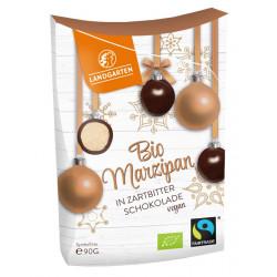 Country garden - organic Marzipan in dark chocolate - 90g