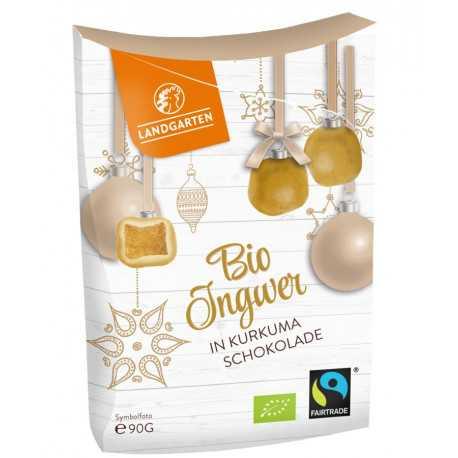 Landgarten - Bio Ingwer in Weißer Schokolade mit Curcuma - 90g