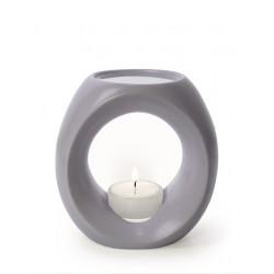 Primavera - lámpara de fragancia - gris oscuro mate