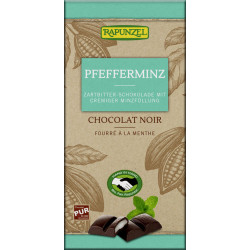 Rapunzel dark chocolate with peppermint filling - 100g