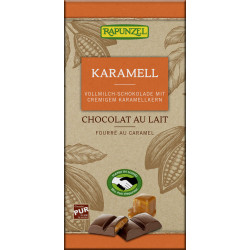 Rapunzel  - Vollmilch Schokolade mit Karamellfüllung - 100g