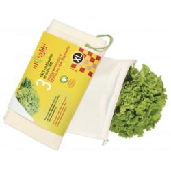 ah table de Fruits et de sacs de légumes XL - 3 Pièces