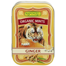 Rapunzel Organic Mints, Ginger candies - 50g