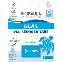 Biobaula - Glass Cleaner-Tabs - 3 Piece
