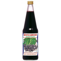 BEUTELSBACHER - Elderberry juice, naturally cloudy not-from-concentrate juice - 0.7 l
