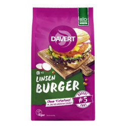 Davert lentil Curry Burger...