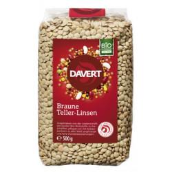 Davert - lentilles assiettes brunes 500g - 500 g
