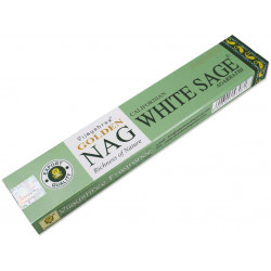 Vijayshree - bastoncini di Incenso Golden NAG Californiana White Sage - 15g