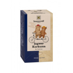 Sol - Jengibre Cúrcuma, Té bio - 18 Bolsitas de té