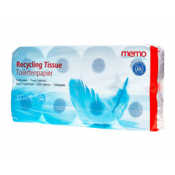 memo - recycling toilet paper 3lagig - 8 rolls