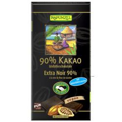 Rapunzel chocolat noir 90% cacao au sucre de fleur de coco - 80g