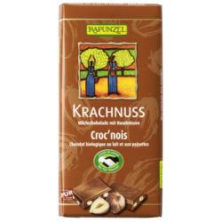 Rapunzel - Krachnuss Leche entera de Chocolate con Avellanas HIH - 100 g