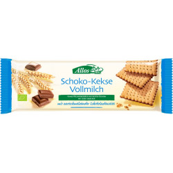 Allos chocolate biscuits whole milk - 130g