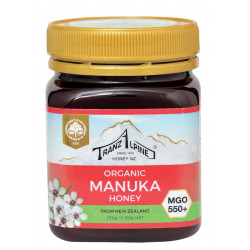 TranzAlpine organic Manuka honey MGO 550+ 250g