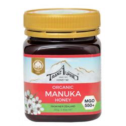 TranzAlpine orgánica de la miel de Manuka MGO 550+ 250g