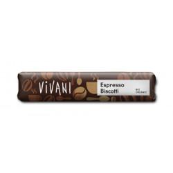 Vivani Espresso Biscotti bar - 40g