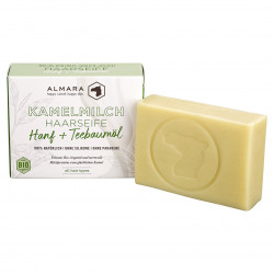 Almara - Tè alla canapa con sapone per il corpo e capelli al latte di cammello biologico - 120g