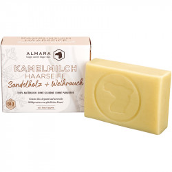 Almara - organic camel milk hair soap sandalwood + incense - 100g