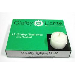 Glafey Lichte - 12 Teelichte ohne Hülse