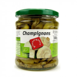 Green - organic mushrooms cut - 330g