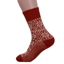 Deer nature - Norwegian star socks red nature - 1 pair