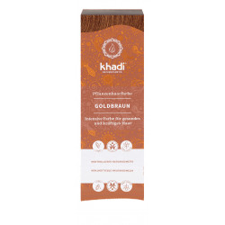 Khadi - Coloration à base de plantes châtain doré - 100g