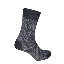 Hirsch Natur - Wool Socks Jaquard - Anthracite