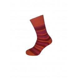 Hirsch Natur - chaussettes rayées laine vierge bio - mangue