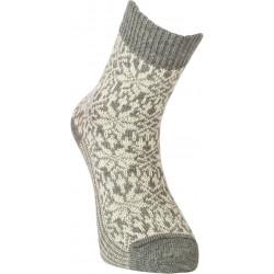Deer nature - Norwegian star socks gray nature - 1 pair
