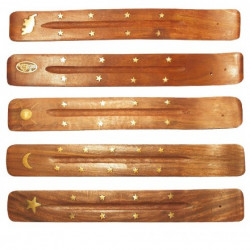 Saraswati - Porta bastoncini di incenso in legno - 1 pezzo