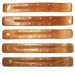 Saraswati - Räucherstäbchen Halter Holz - 1 Stück