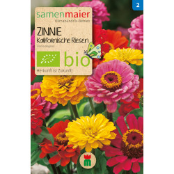 Seeds Maier - Organic Zinnia Californian Giant - 1 bag