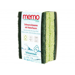 Memo - Éponges en fibres naturelles hautement abrasives, lot de 2