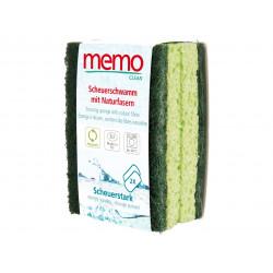 Memo - spugne in fibra naturale altamente abrasive, confezione da 2